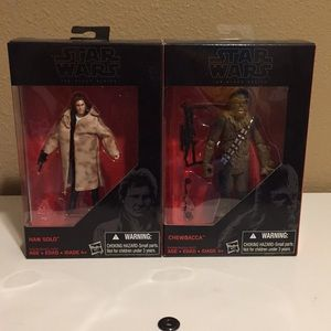 Star Wars the black series Han Solo and chewy
